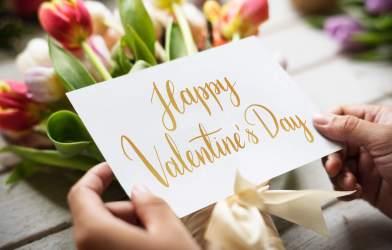 Valentine's Day card, flowers