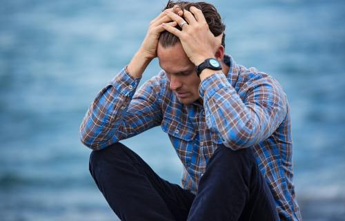 Sad, depressed man