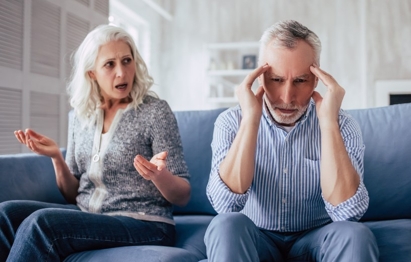 Older adults feeling sad, angry