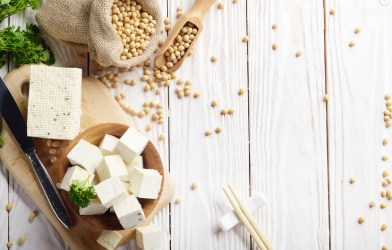 Soy protein sources - tofu, soybeans, non-dairy
