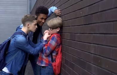 Teens bullying student