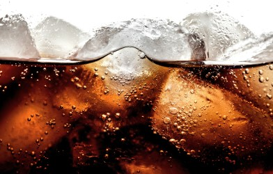 Closeup of soda