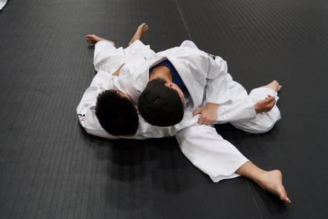 Children practicing Judo