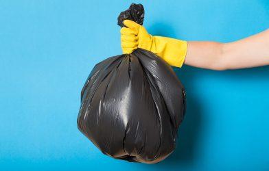Trash bag, garbage