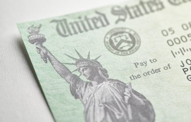 Stimulus check from United States Treasury