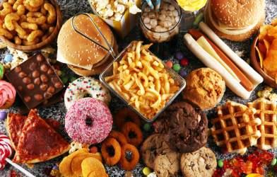 Unhealthy, processed food, snacks