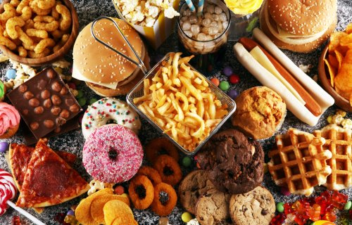 Unhealthy, processed food, snacks