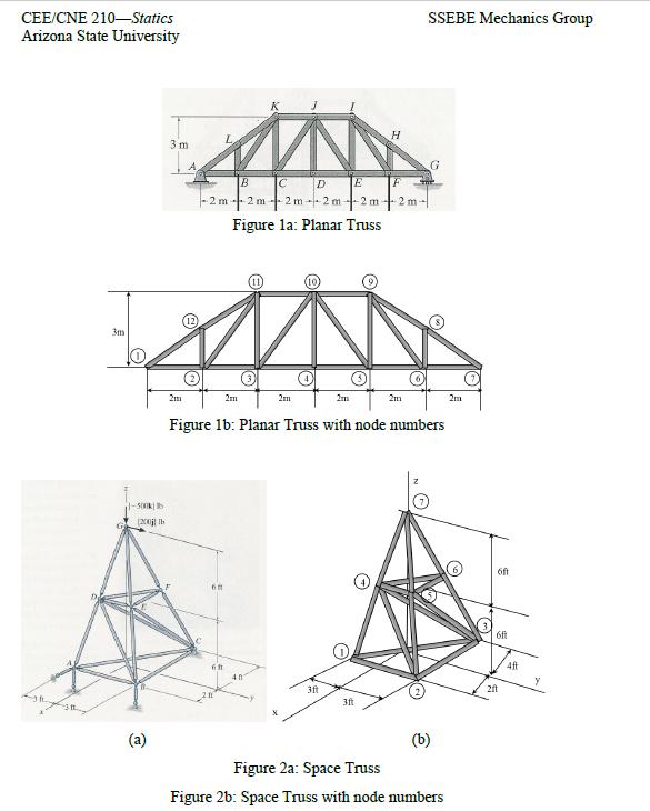 Solution: CEE/CNE 210—Statics [ Computing Project 3