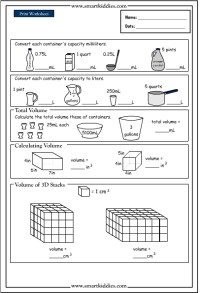 Converting and calculating volume, Mathematics skills ...