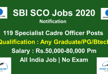 SBI SCO Recruitment 2020