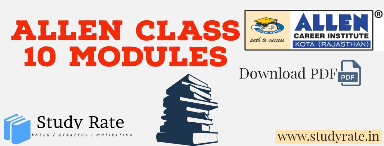 ALLEN Class 10 Study Material PDF Download for Olympiad/NTSE PDF