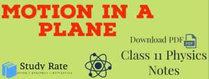 Motion in a Plane-Kinematics Notes Class 11 Physics Notes- Download PDF for JEE/NEET