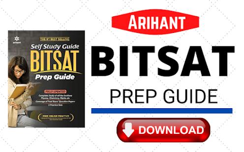 Arihant BITSAT Preparation Guide PDF Download for FREE