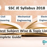 SSC JE Syllabus 2018 Pdf Download (Civil, Electrical, Mechanical Engineering)