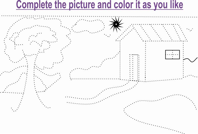 Beauty of nature coloring page