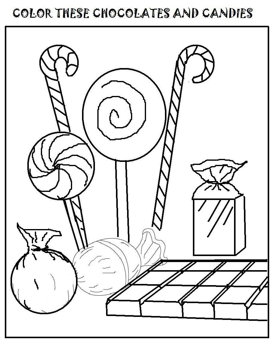 Candy Bar Printable Coloring Pages