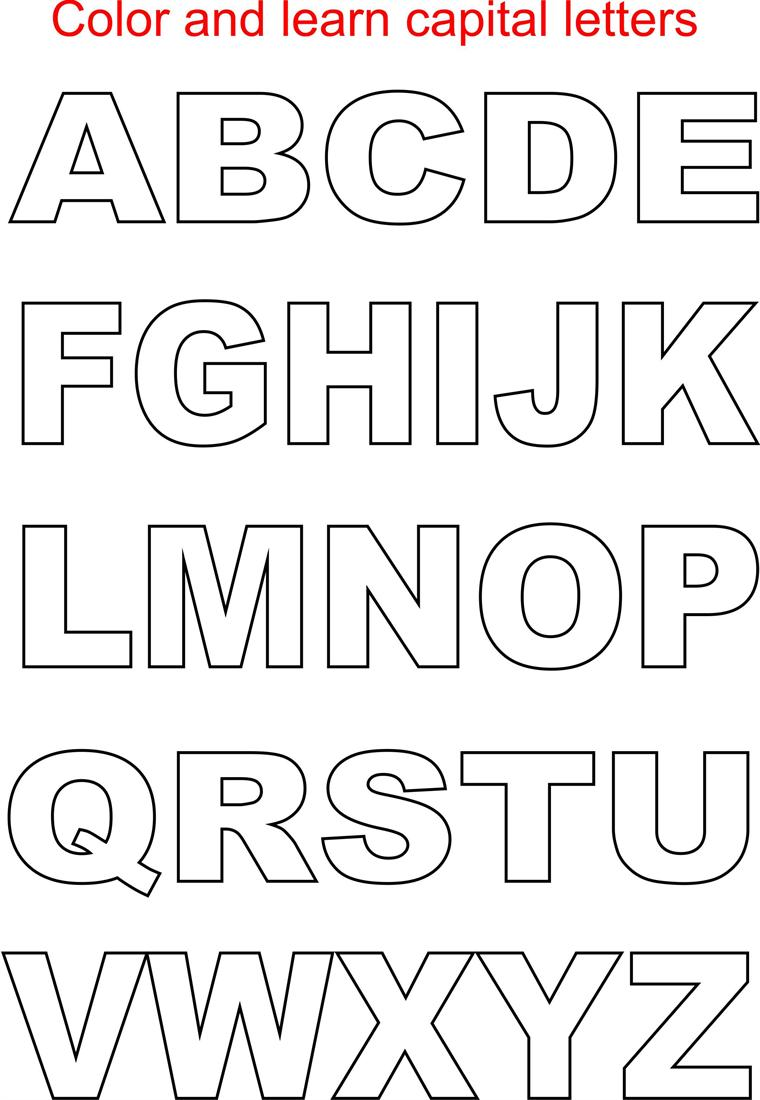 Small letters coloring printable page for kids: Alphabets