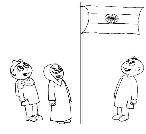 India Independence Day coloring pages for kids