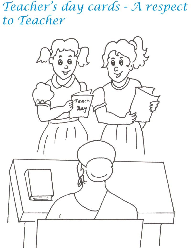 Teacher's day printable coloring page for kids 6