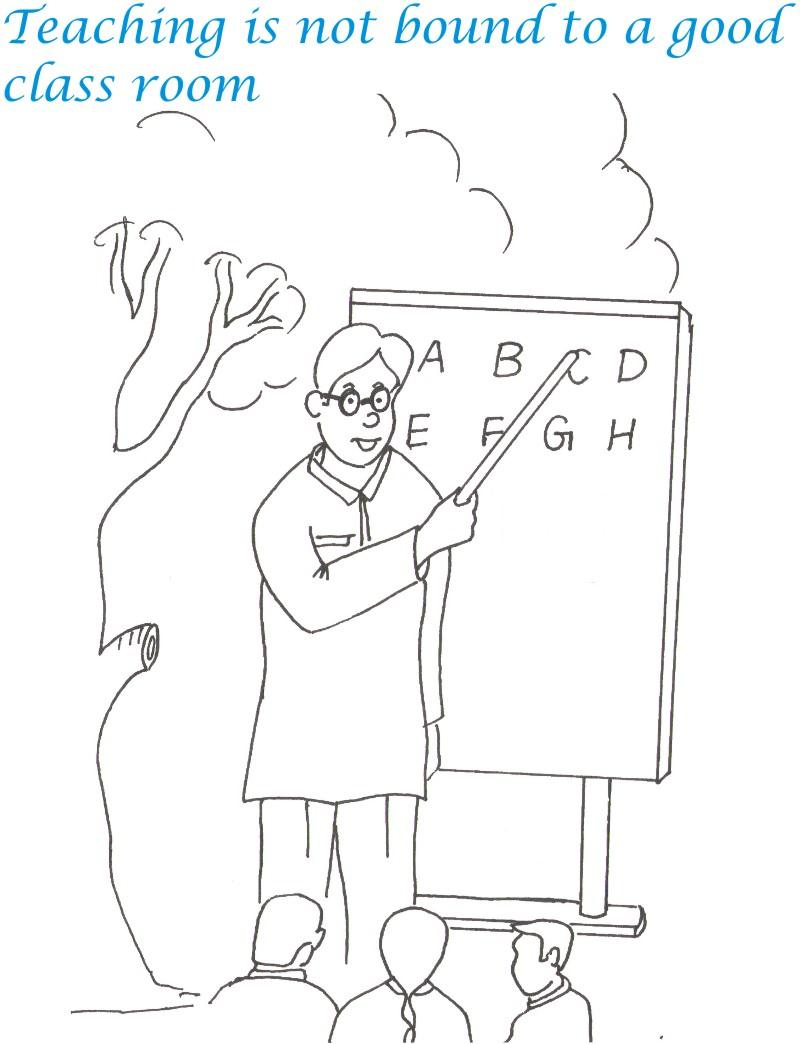 Free coloring pages of teacher your