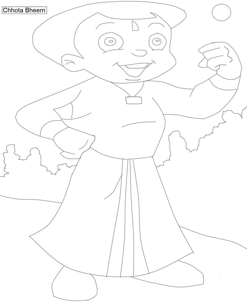 Chota Bheem characters coloring pages