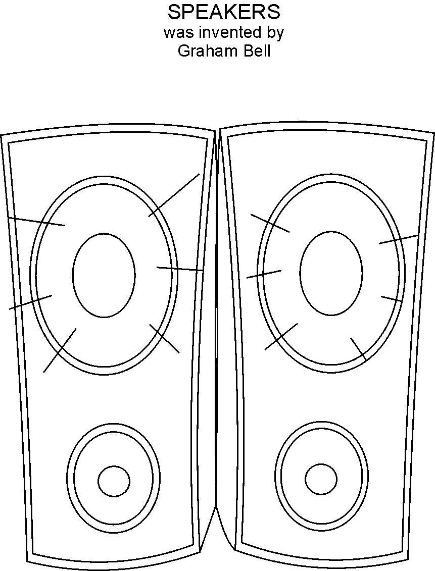 Speaker coloring printable page