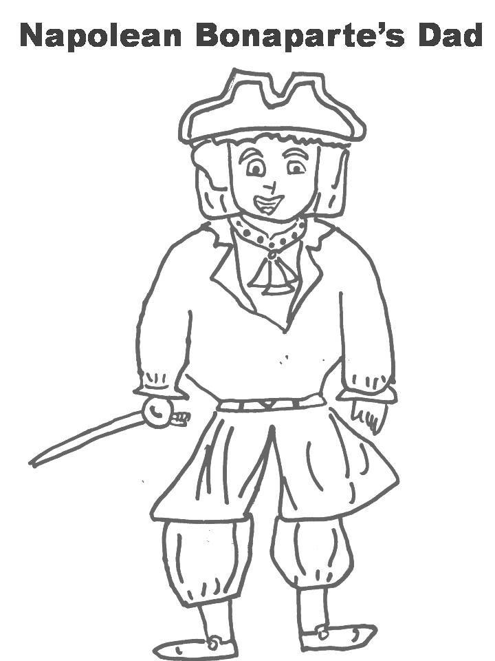 napoleon colouring pages