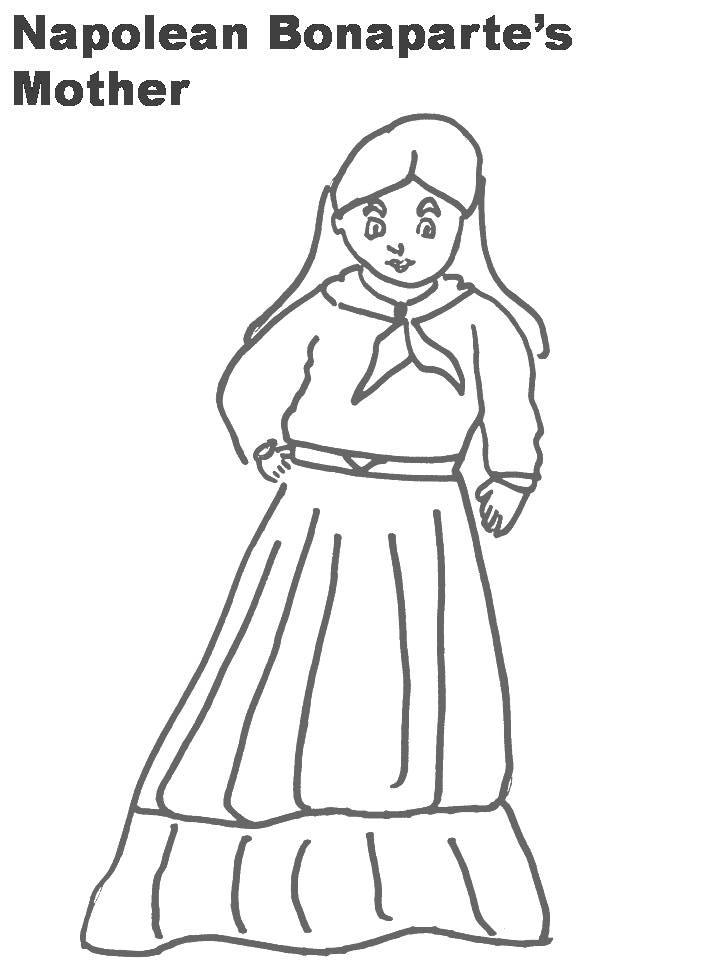 Napolean Bonaparte's Mother coloring page