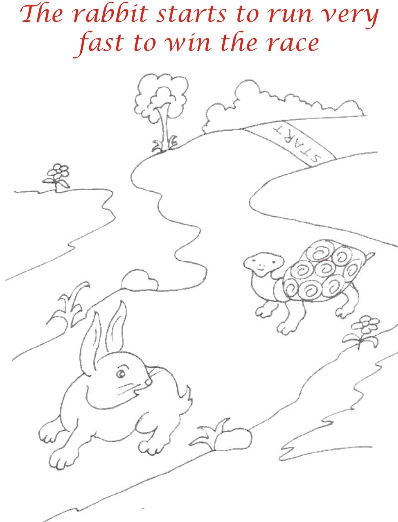The Racing story coloring page for kids 9