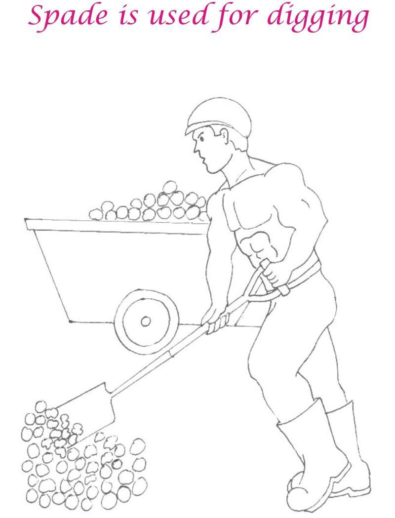 Free seaside spade coloring pages