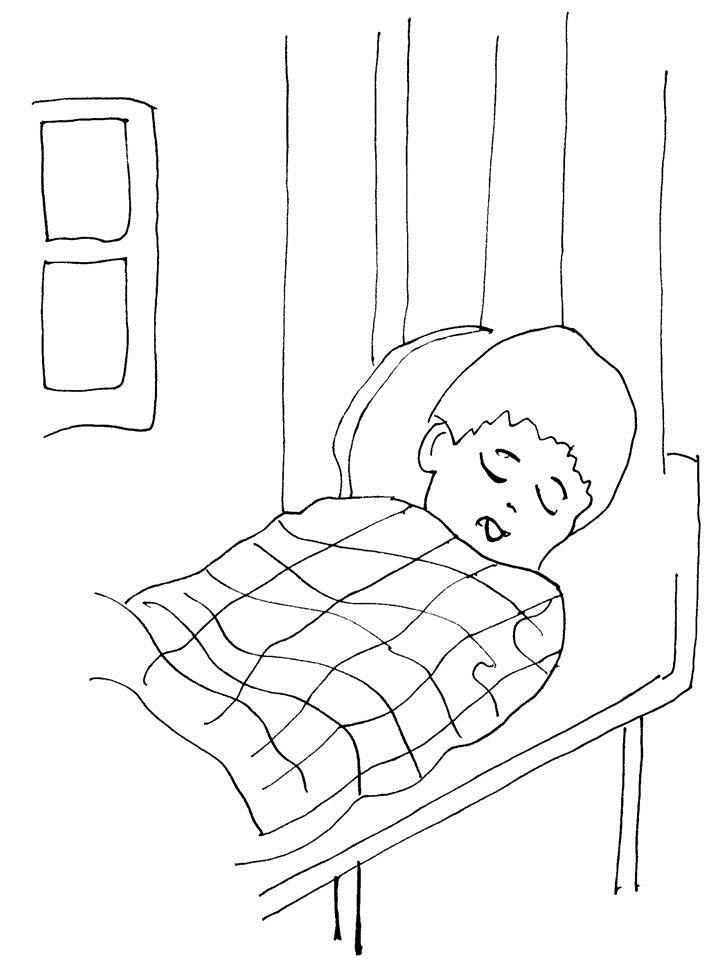 Story coloring printable page for kids 4