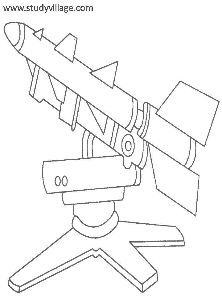 Military Weapon coloring page for kids 7