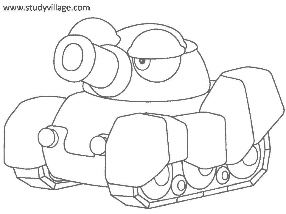 Military Weapon coloring page for kids 8