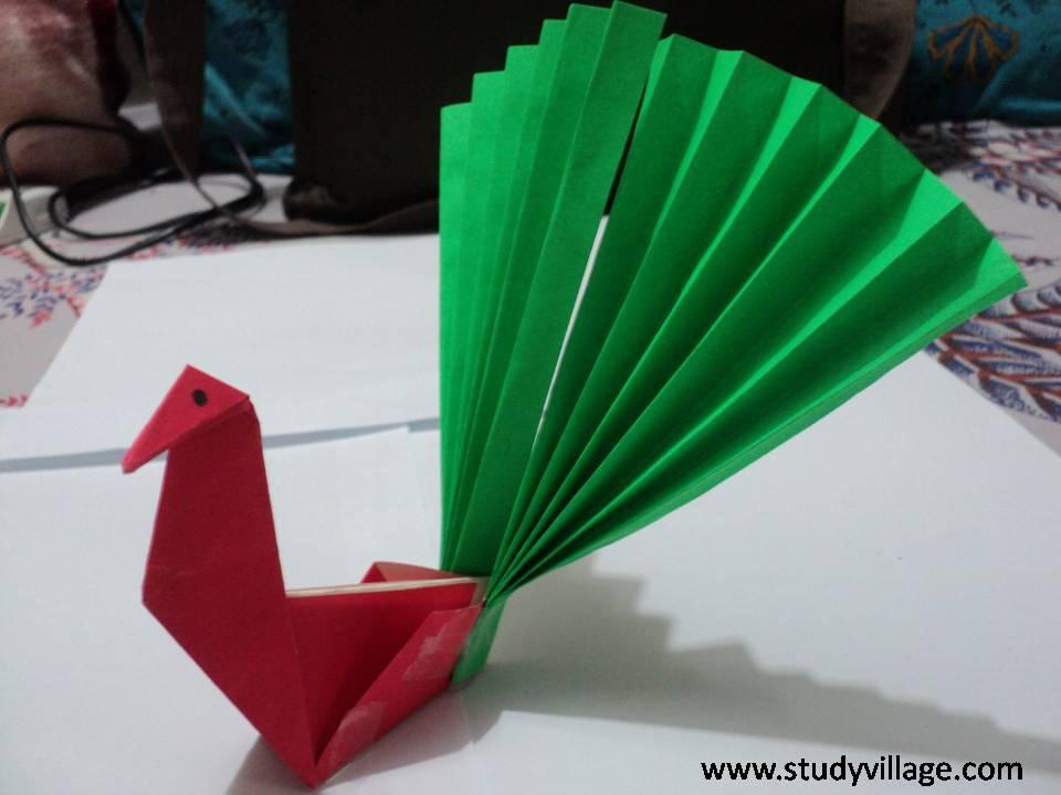 How to make beautiful Paper Peacock  Step 15