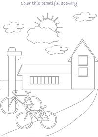 Realistic Coloring Pages for Adults Scenery | Adult Coloring Pages ... | 280x200