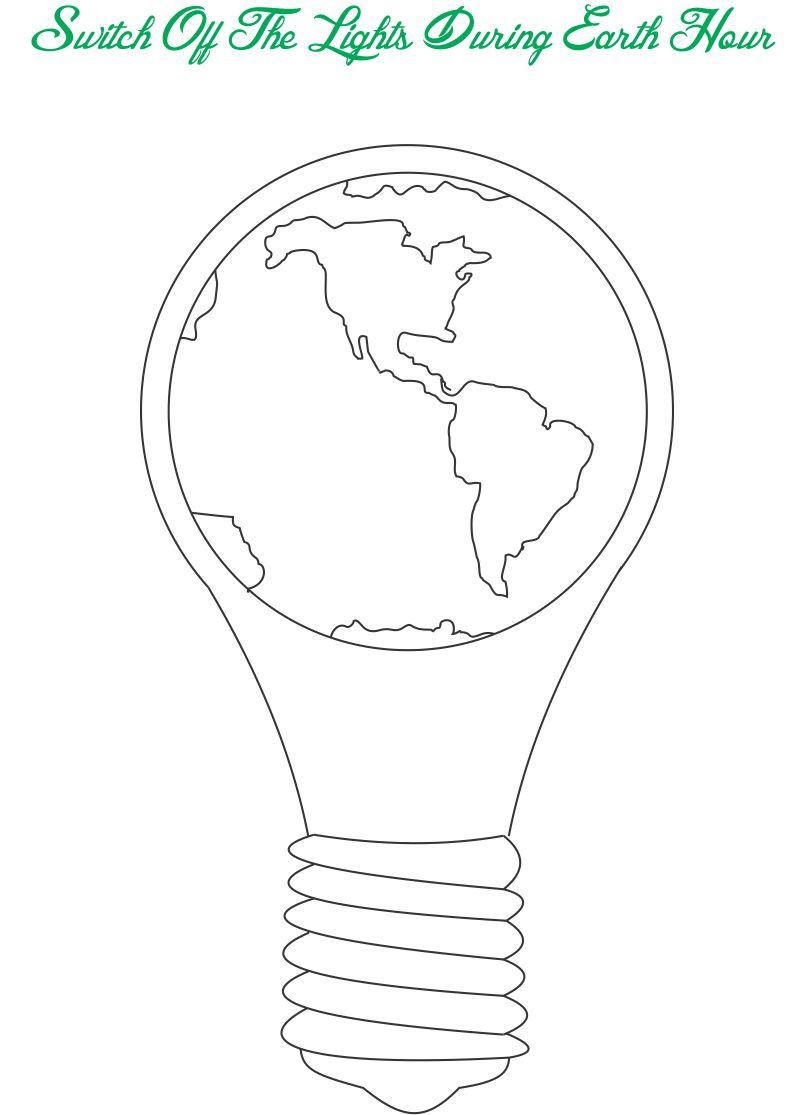 Free coloring pages of conserve energy