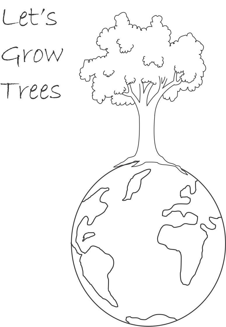 tree planting colouring pages (page 2)