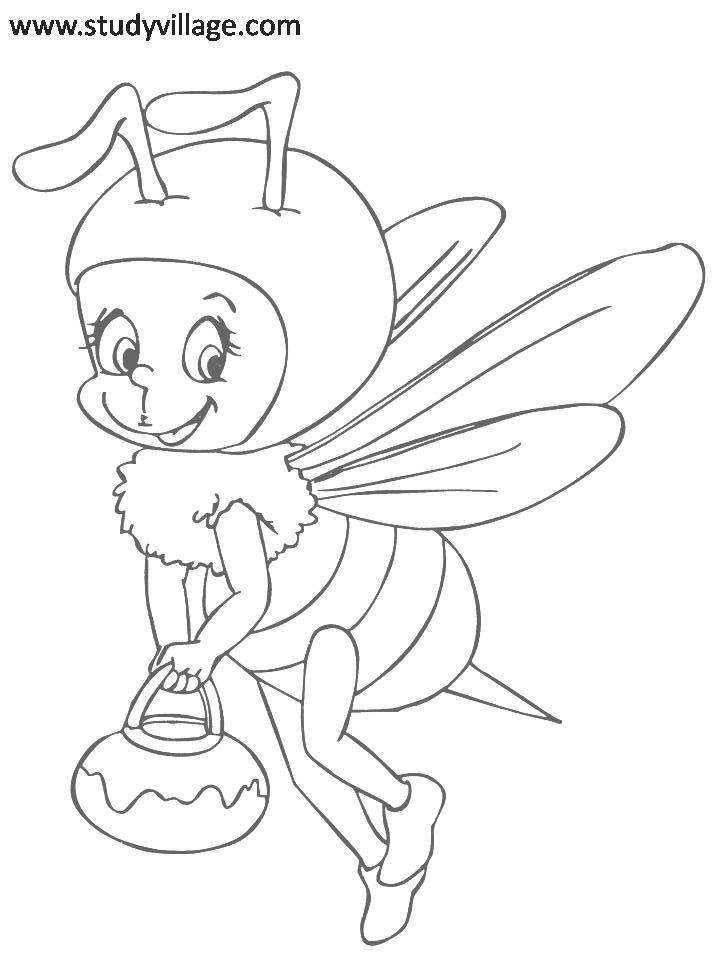 Funny Insects printable coloring page for kids 10