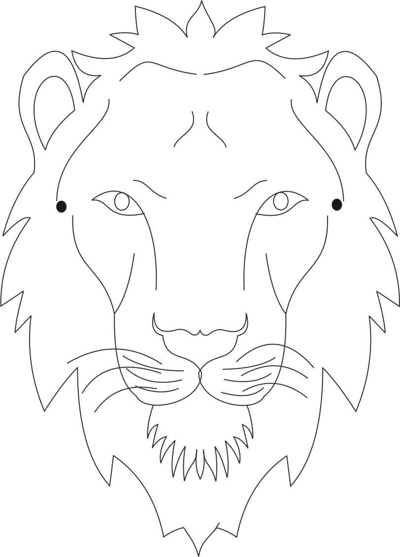 Tiger mask printable coloring page for kids
