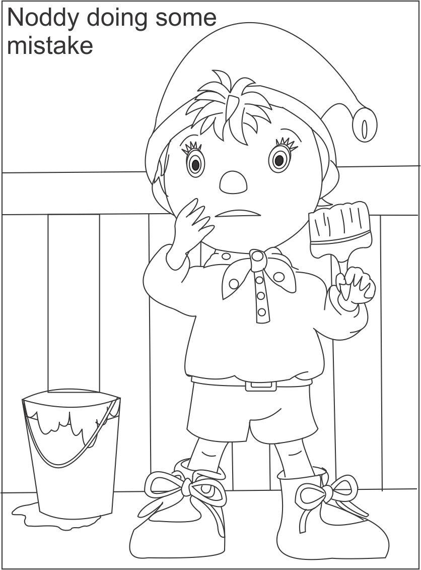 Noddy printable coloring page for kids 3