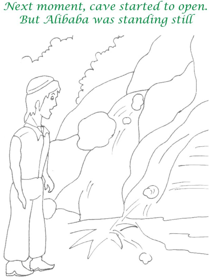 Alibaba story printable coloring page for kids 17