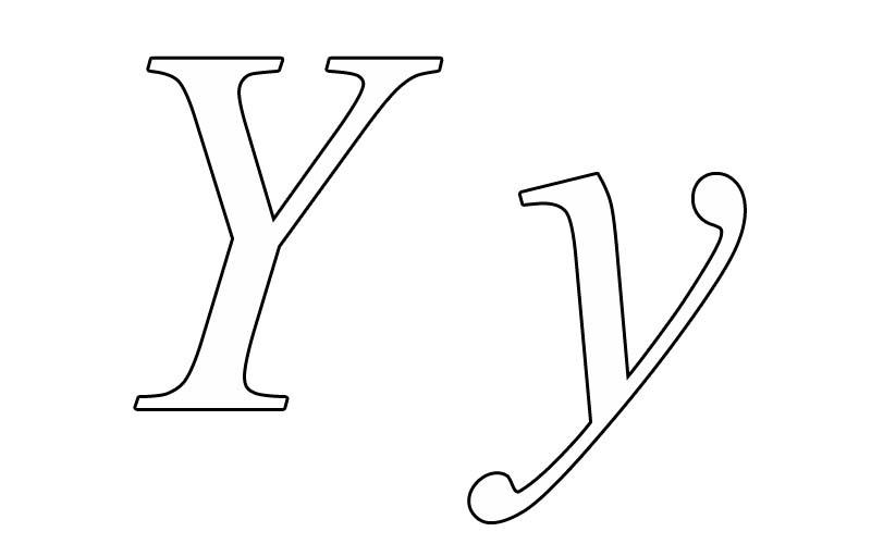 printable letter y coloring pages letter y coloring
