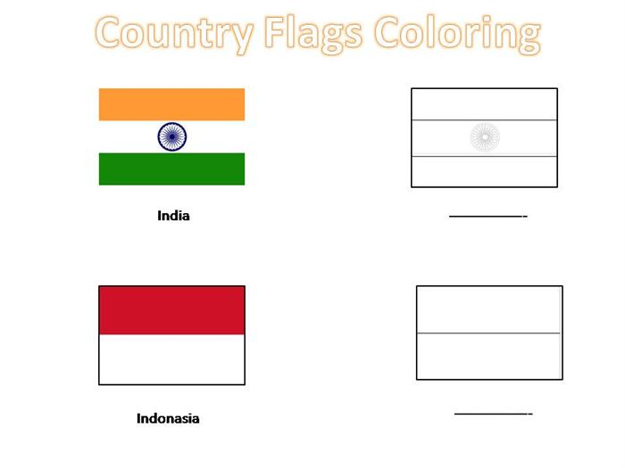 Country Flags Coloring Pages For Kids