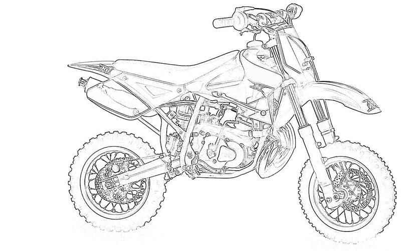 Motor Bikes printable coloring pages for kids 12