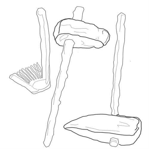 Coloring pages of Bone and Stone tools- image 10