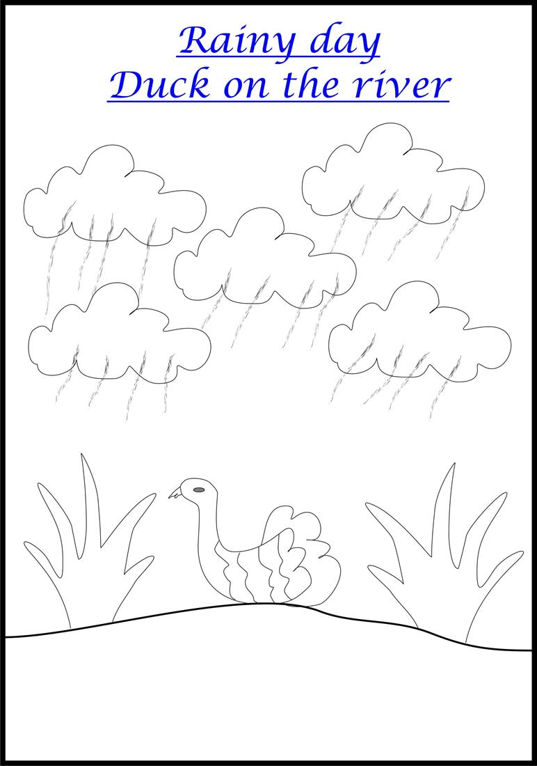Flower and Nature printable coloring worksheets for kids