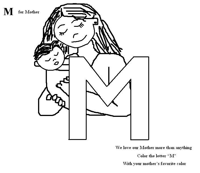 Alphabets coloring pages worksheet for Preschool and