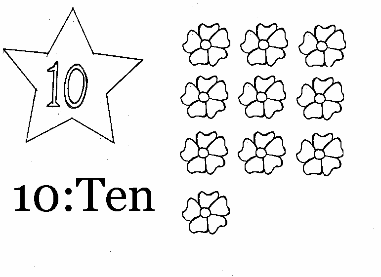 coloring page of number 10
