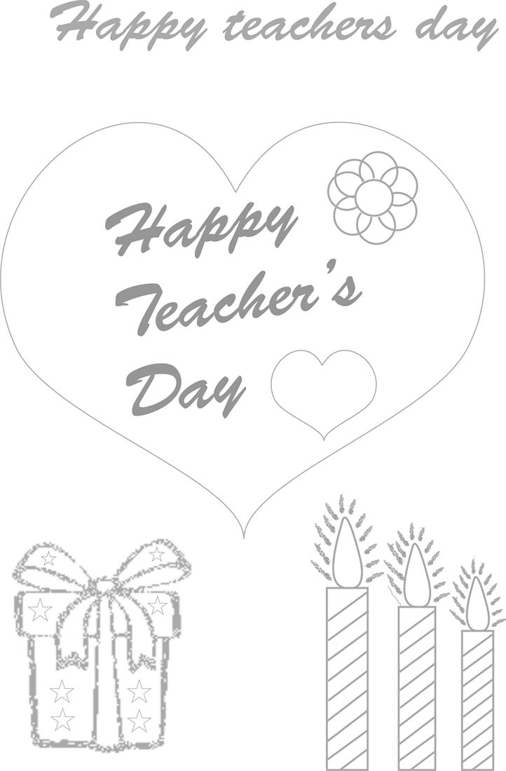 Teacher's day coloring worksheets for kids 1