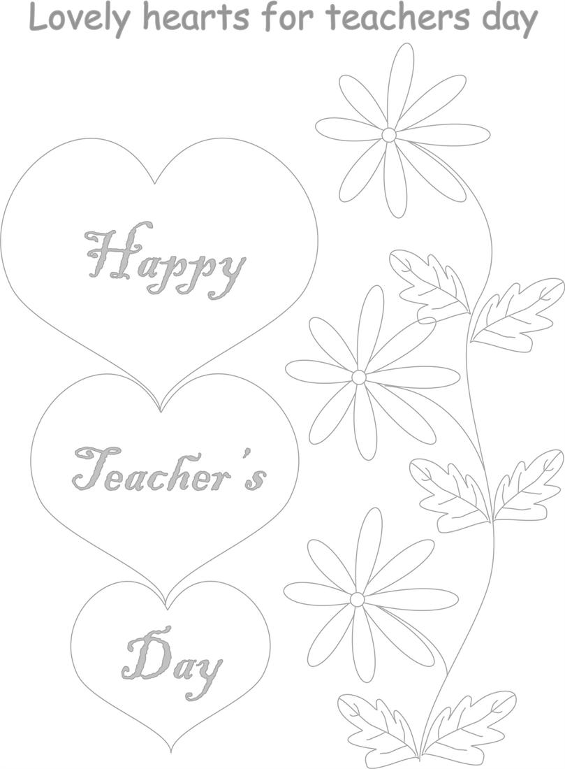 Teacher's day coloring worksheets for kids 2